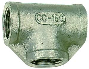 ID: 112691 - T-Verteiler, 3 x innen, Rp 1/4, Edelstahl 1.4401/1.4408