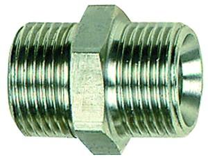 ID: 111686 - Doppelgewindenippel, G 3/4 a., G 1/2 a., SW 32, Edelstahl 1.4571