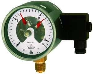 ID: 102608 - Kontaktmanometer, G 1/2 radial unten, Messber. -1/+1,5 bar, Ø 160