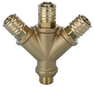 ID: 107265 - Verteiler mit 3 Schnellverschlusskupplungen NW 7,2, G 3/8 AG