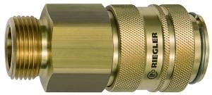 ID: 141562 - Schnellverschlusskupplung NW 19, Messing blank, G 1 AG