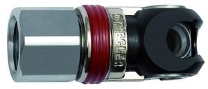 ID: 141625 - Schwenk-Sicherheitskupplung NW 6, ISO 6150 C, Stahl, NPT 1/4 IG