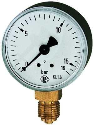 ID: 101701 - Standardmanometer, Kunststoffgeh., G 1/4 unten, 0-160,0 bar, Ø 50