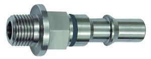 ID: 141881 - Unverwechselbarer Nippel NW 6, ISO 6150 C, G 1/4 AG, grau
