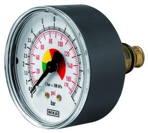 ID: 136796 - Manometer ø 63 mm, ungeeicht, Anschluss hinten