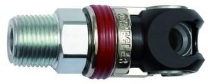 ID: 141633 - Schwenk-Sicherheitskupplung NW 6, ISO 6150 C, Stahl, NPT 1/2 AG