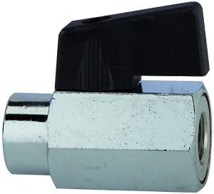 ID: 103339 - Mini-Kugelhahn, glatte Oberfläche, MS vern., G 1/8 IG, DN 8