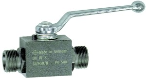 ID: 103500 - Kugelhahn, Hochdruckausführung, leichte Reihe, Stahl, M16x1,5