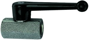 ID: 103335 - Mini-Kugelhahn, sandgestrahlt, MS vern., Handhebel, G 1/2 IG