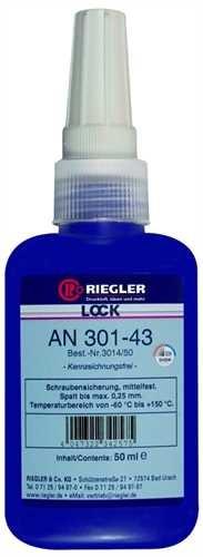 ID: 114545 - RIEGLER Lock AN 301-43, anaerober Klebstoff, mittelfest, 50 ml