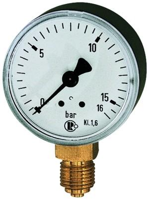 Standardmanometer, Kunststoffgeh., G 1/4 unten, 0-