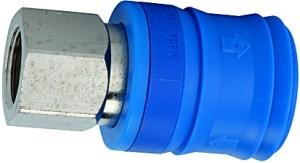 ID: 107557 - Sicherheitskupplung NW 7,4, Typ KE, Messing vern., G 1/4 IG