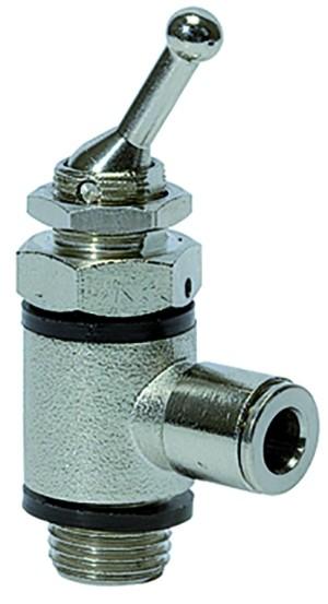 ID: 107035 - 3/2-Wege-Kipphebelventil, Schlauchseite, Steckverb.G1/4, Schl. 8
