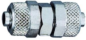 ID: 110520 - Gerade Verbinder, für Schlauch 8/6 mm, SW 12, Messing vernickelt