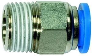 ID: 135629 - Gerade Steckverschraubung »Blaue Serie«, R 3/8 a., Schlauch-Ø 14