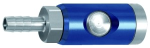 ID: 107573 - Druckknopf-Sicherheitskupplung NW 7,4, drehbar, Alu, Tülle LW 9