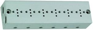 ID: 106655 - Reihengrundplatte 6-fach, M5 für Mini-Magnetventile 15 mm