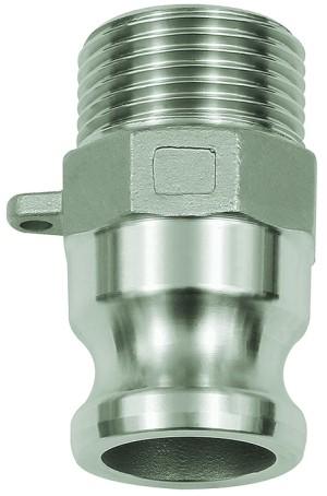 ID: 108138 - Kamlok-Schnellkupplungsstecker mit AG, Typ F, ES 1.4401, R 4