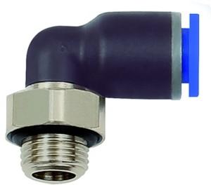 ID: 135638 - L-Steckverschraubung »Blaue Serie«, drehbar, G 3/8 außen, Ø 14 mm