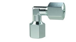 ID: 159739 - Winkel-Verschraubung, Rohr-Außen-Ø 10 mm, Stahl verzinkt, 100 bar